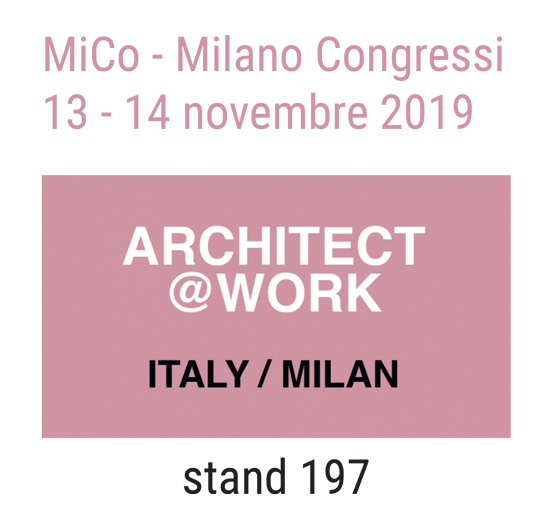 logo architect@Work 2019 Partecipazione fiera