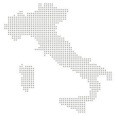 Italia cartina puntini