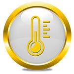 Simbolo ambiente riscaldamento termometro